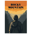rocky mountain national park poster design in vector image