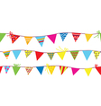 Seamless pattern with bunting flags vector image vector image