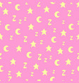 seamless pattern with stars moons and z vector image vector image