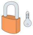 set of lock and key vector image