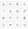 social icons set with chatting approv follow and vector image