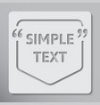 speech bubble quote text bracket vector image