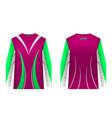 sportswear jersey template vector image vector image