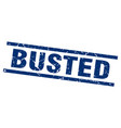 square grunge blue busted stamp vector image vector image
