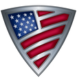 steel shield with flag usa vector image