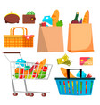 store shopping icons wallet money credit vector image vector image