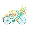 Summer blue bicycle vector image