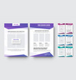 template a modern white flyer with blocks vector image