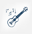 ukulele sketch isolated design vector image vector image