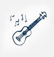ukulele sketch isolated design vector image