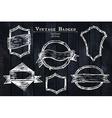 vintage sketched badges vector image