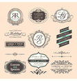 vintage style wedding symbol border and frames vector image vector image