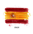 watercolor painting flag of spain vector image vector image