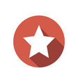 white star on red circle isolated clean fl vector image vector image