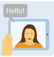 tablet communication vector image