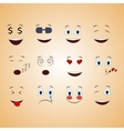 emotions face smile funny cute different set vector image