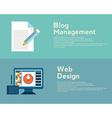 Flat design concepts for web design graphic design vector image