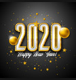 2020 happy new year with 3d light vector image vector image