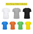 3d black and white grey t-shirt clothing fashion vector image