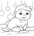 a children coloring bookpage cartoon baby vector image