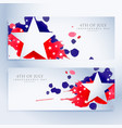 abstract 4th july banners vector image vector image