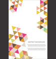 abstract geometric design background template 2 vector image vector image