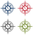 abstract icon design template of compass set vector image