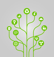 Abstract icon tree - environment vector image vector image