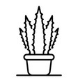 aloe home pot icon outline style vector image vector image