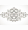 arabesque vintage outline decor ornate pattern vector image