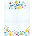Back to school lettering or design template vector image vector image
