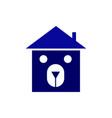 bear home logo vector image vector image