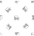 blank portable screen pattern seamless black vector image vector image