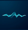blue sonic wave line abstract blue digital vector image vector image