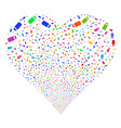 bottle fireworks heart vector image vector image