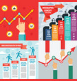 business infographic templates concept vector image vector image