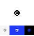 c with abstract circle minimalism logo c vector image