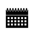 calendar reminder isolated icon vector image vector image