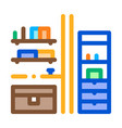 chest drawers icon outline vector image vector image