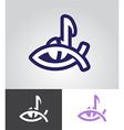 christian music emblem vector image