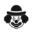 Clown simple icon vector image