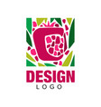 creative logo design with tropical fruit abstract vector image vector image