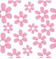 cute beautiful pink flowers pattern vector image vector image