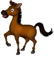 cute brown horse cartoon vector image