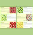 detox juice poster ingredients refreshing drink vector image vector image