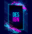 dynamic futuristic modern frame art design vector image vector image