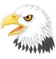 Eagle head mascot cartoon vector image vector image