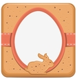Easter bunny and egg shape cookie vector image vector image