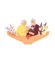 elderly care concept vector image