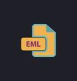 EML computer symbol vector image vector image